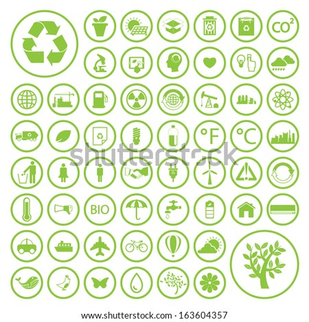 Ecology and Recycle icons - stock vector