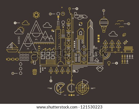 ecology background,ecology info graphics,vector set - stock vector