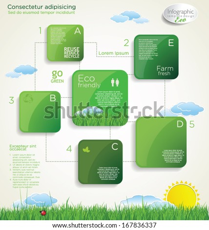 Ecology concept modern design - stock vector