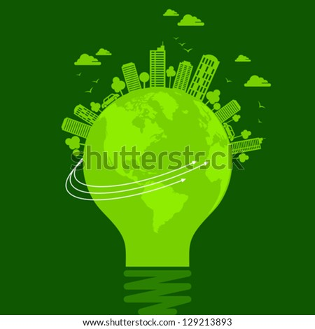ecology concept - save earth - stock vector