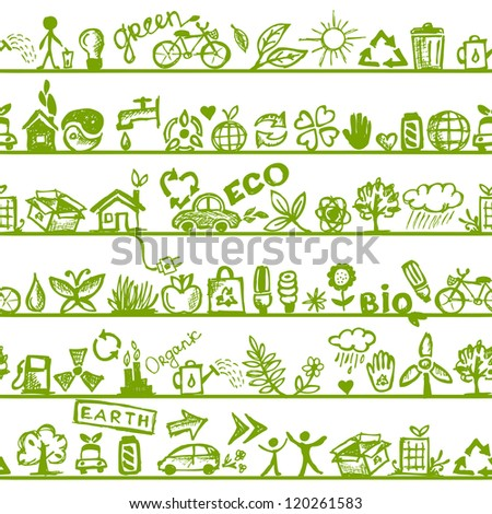 Ecology concept. Seamless pattern for your design - stock vector