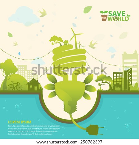 Ecology Concept Vector - stock vector
