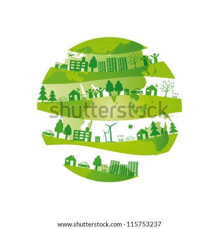 Ecology concept you can use on Earth Day - stock vector