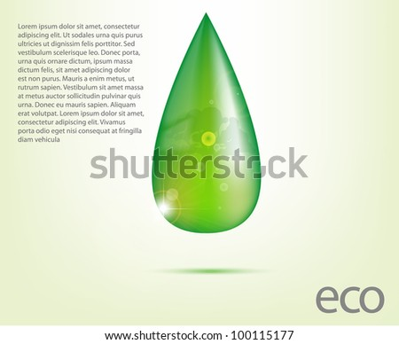 Ecology Design Element Vector Drawing Set - stock vector
