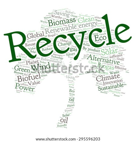 Ecology Earth concept word collage.  - stock vector