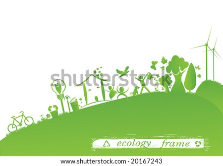 ecology frame - stock vector