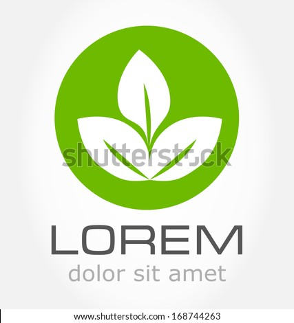 Ecology green icon. Vector leaf - stock vector