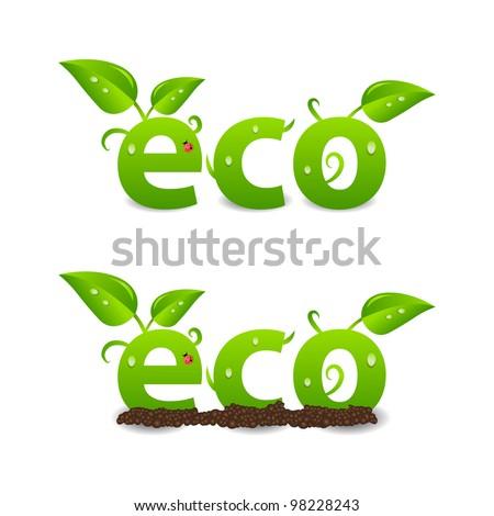Ecology header or logo - stock vector