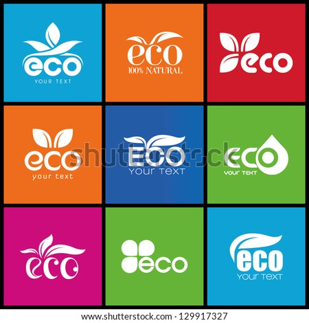 Ecology icon set. Eco-icons 3 - stock vector