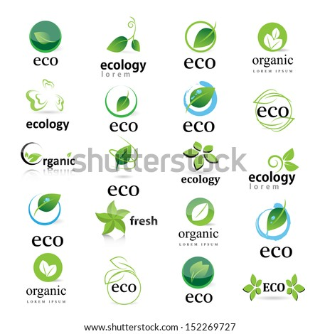 Ecology Icon - Set - Isolated On White Background. Vector illustration, Graphic Design Editable For Your Design - stock vector