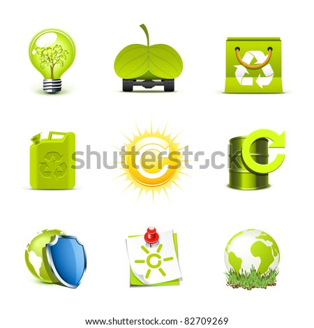 Ecology icons | Bella series 2 - stock vector