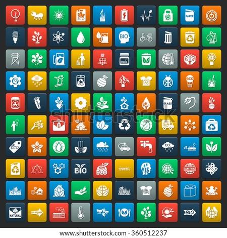 Ecology icons set. Ecology icons flat. Ecology icons. Ecology set app. Ecology set vector. Ecology set eps. Ecology icons UI. Ecology icons sign. Ecology icons art. Ecology set. Ecology set logo. - stock vector