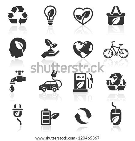 Ecology icons set1. vector illustration. More icons in my portfolio. - stock vector