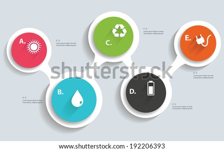 Ecology info graphics,blank for text,vector - stock vector