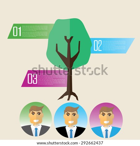 ecology info-graphics elements and background, environment businessman concept. Can be used for step options - stock vector