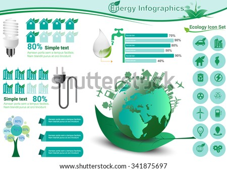 Ecology Infographic Elements Vector Illustration - stock vector