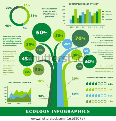 Ecology infographic presentation template vector illustration - stock vector