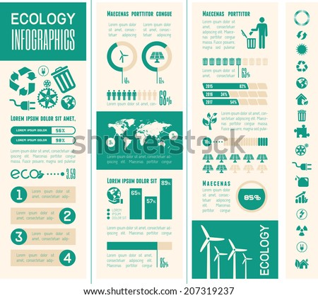 Ecology Infographic Template. - stock vector