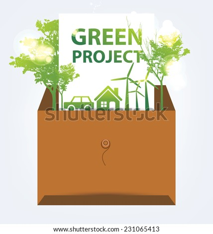 Ecology infographics - stock vector