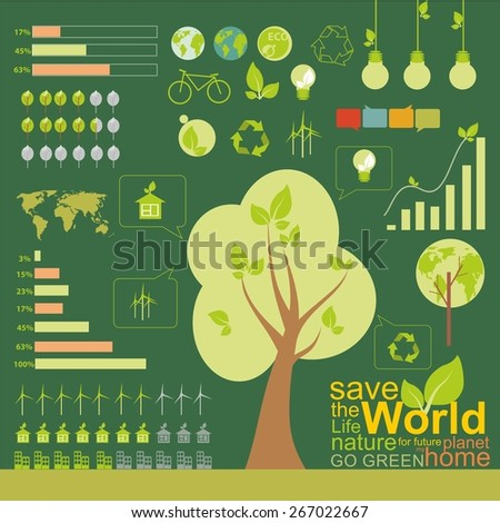 Ecology, infographics , environmental element. - stock vector