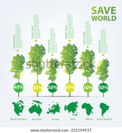 Ecology infographics vector - stock vector