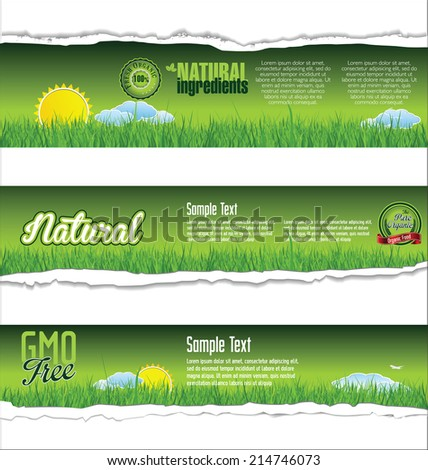Ecology nature background - stock vector