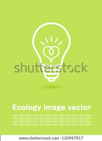 ecology poster Vector - stock vector