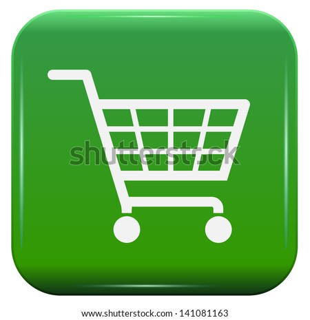 Ecology shopping basket sign - stock vector
