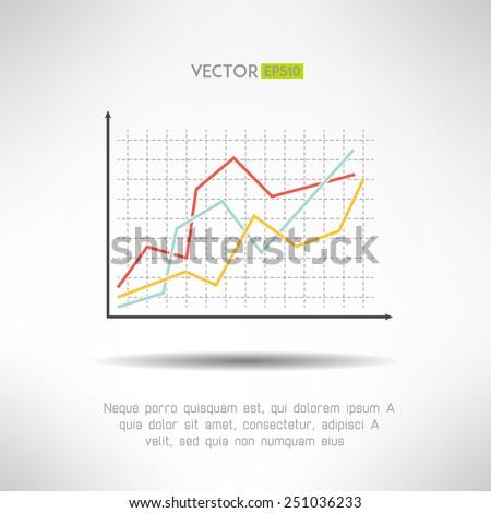 Economic finance graphics chart icon. Market sale diagram graph for presentation. Vector - stock vector
