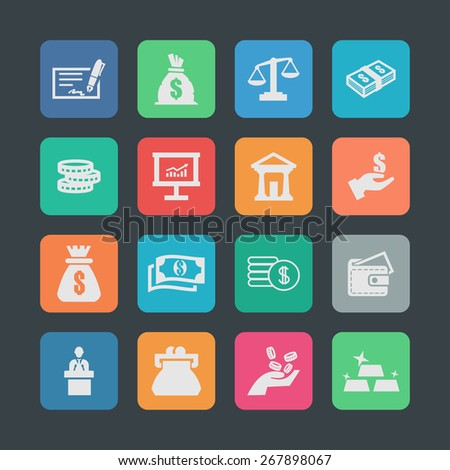 economic icons - stock vector