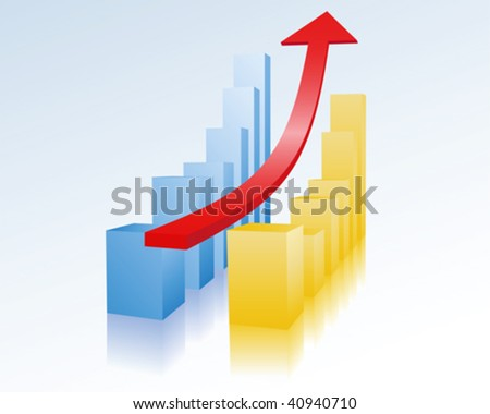 economic recovery - stock vector