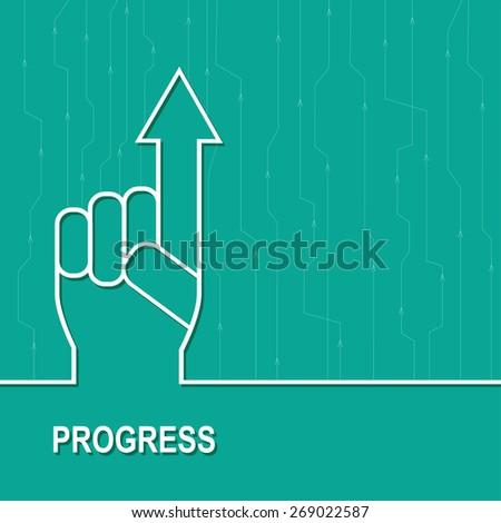 Economic  rise. Business diagram illustration - stock vector