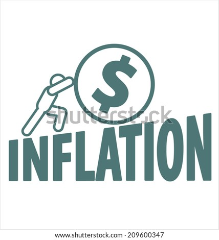 Economy and inflation - stock vector