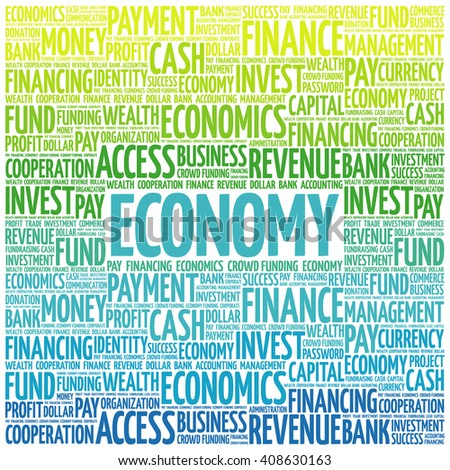 ECONOMY word cloud, business concept - stock vector