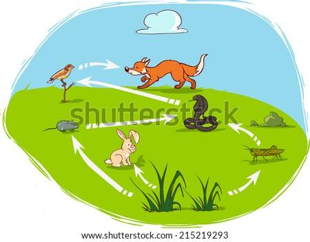 ecosystem-diagram - stock vector