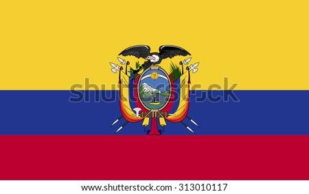 Ecuador Vector Ecuador Flag Stock Vector