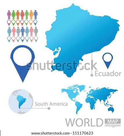 Ecuador Vector Stock-vector-ecuador-south