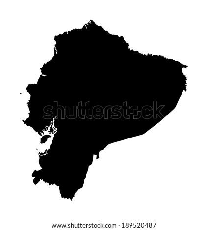 Ecuador Vector Ecuador Vector Map Isolated on