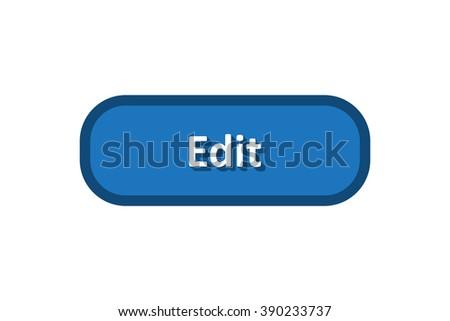 Edit button - stock vector