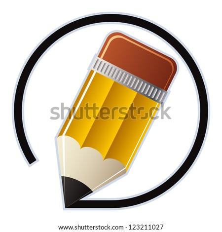 Edit pencil vector icon. - stock vector