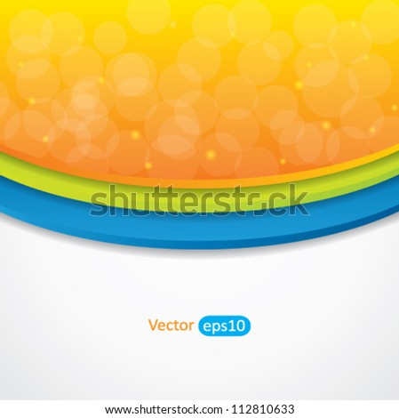 Editable abstract vector background with colorful design and place for your content - stock vector