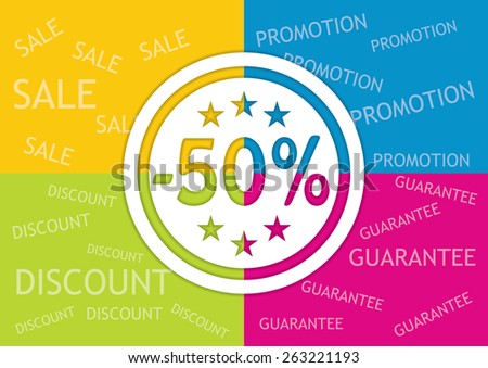 Editable banner for discount actions with percent stamp - stock vector