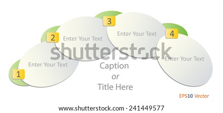 Editable EPS 10 vector business infographic template with a space to enter text or caption. Can be used for workflow layout, diagram, web design, presentations and brochures. - stock vector