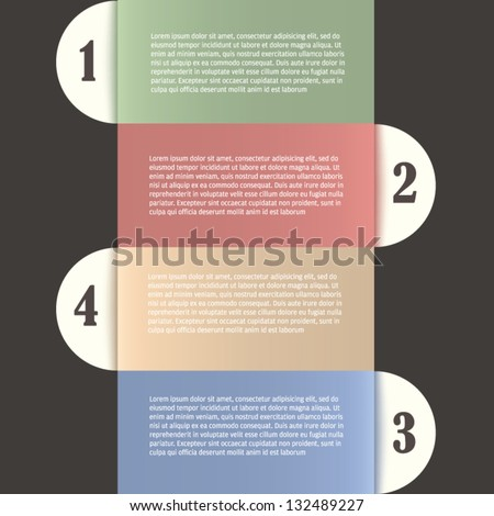 Editable modern colorful design template presentation with letters and numbers / for info-graphics / numbered banners / graphic or website layout vector - stock vector