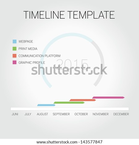 Editable timeline template - stock vector