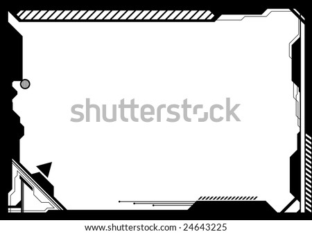Editable vector high-tech futuristic frame with space for your text or image - stock vector