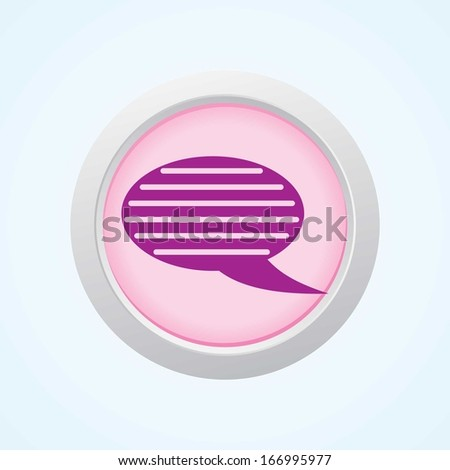 Editable Vector Icon of Comments on Button. Eps-10. - stock vector