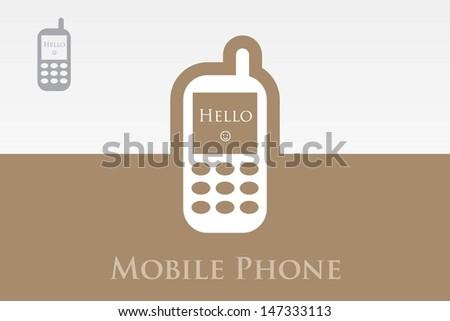 Editable Vector Icon of Mobile phone - stock vector