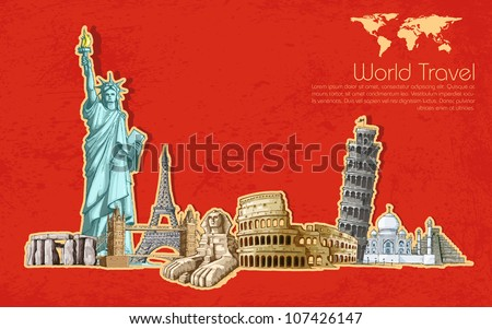 Editable vector illustration of a historical monument - stock vector
