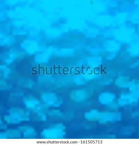 Editable vector illustration of light clouds in a blue sky made using a gradient mesh - stock vector